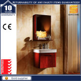 Санитарной шкаф мебели ванной комнаты твердой древесины изделий установленный стеной