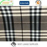 100 Twill-Druck des Polyester-260t, der klassisches grosses Check-Muster für Wind-Mantel und Umhüllung der Frauen zeichnet
