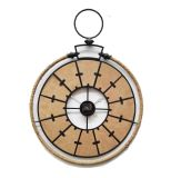 Madera natural, reloj de pared del metal del moho