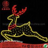 2D LED Exterior Motif de renos de la calle de la luz de la decoración de Navidad