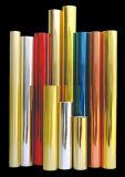 El laser colorea la hoja de sellado caliente de la película para el certificado de ropa de la cubierta/de papel de empapelar y de baquelita