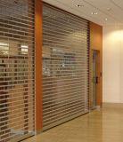 El rodillo curvado cortina eléctrica comercial del PVC del policarbonato del panel Shutters la puerta (Hz-PRS04)
