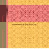 100%Polyester Lithophane 격자 무늬 Pigment&Disperse는 침구 세트를 위한 직물을 인쇄했다