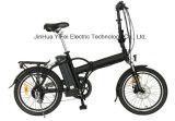 Bicicleta eléctrica plegable de la ciudad del marco de la aleación de 20 pulgadas con la batería de litio