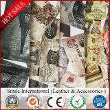 Цифровая печать ПВХ кожа для сумки/Talbe коврик верх из синтетической кожи