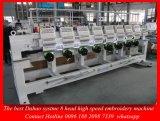 Os melhores máquina de alta velocidade principal do bordado do computador do sistema de controlo 8 de Dahao para a máquina de Emberoidery do vestuário do tampão