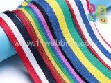 Striped лента жаккарда Webbing полиэфира для вспомогательного оборудования одежды
