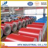 O material de construção laminou a bobina de aço galvanizada Prepainted cor de PPGI