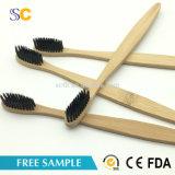 Bambou biodégradable en gros personnalisé de brosse à dents