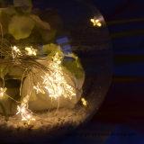Venda quente! Mini fio de cobre feericamente do diodo emissor de luz com luz 3m30LED feericamente a pilhas da estrela