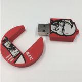 Movimentação do flash do USB do biscoito da vara da memória do USB do alimento de KFC da memória Flash