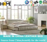 Het nieuwe Elegante Moderne Echte Bed van de Grootte van de Koning (HC902) voor Slaapkamer