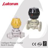 Válvula de diafragma pneumática plástica do PVC do fabricante de Wenzhou