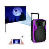 Competitive 12 Inches Plastic LED Projection Active Speaker with Fine
