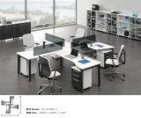 Modernes hellfarbiges Büro-modularer Arbeitsplatz im Querentwurf