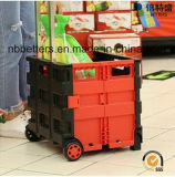 Het Plastic het Winkelen van de Manier Karretje van uitstekende kwaliteit