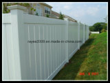 無期限保証の優れた景色のビニールの塀は安いヤードの囲にパネルをはめる
