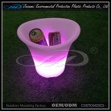 Cubo de hielo plástico de la fábrica LED especialmente para la barra