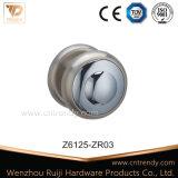 75mm grand tour de zinc bouton de porte à porte en bois