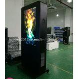 55inch volledige LCD van de Kiosk van de Reclame van de Tribune van de Vloer van het Netwerk HD Professionele OpenluchtWiFi Vertoning