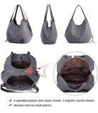 Canvas het Winkelen van de Handtas van de Capaciteit van de Totalisator van de Vrouwen van de Handtassen van het Ontwerp van Dame Handbag Fashion Shoulder Women Zak Grote Zak (WDL0508)