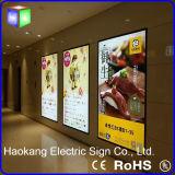 Placa de menu de exibição LED de publicidade para sinal com luz de imagem