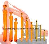 ローダー油圧アームシリンダー、ブームシリンダー、掘削機のDozerのためのオイル管が付いているバケツシリンダー