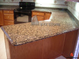 ブラウン/Yellow/Kitchen/Hotel ProjectのためのWhite Granite Countertops
