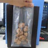 Sac en plastique de nourriture de tirette de fermeture éclair de blocage d'espace libre rescellable de sac