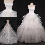 Strapless Princess Ball Suite Casamento vestido vestido Maker Wgf004