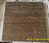コーヒーブラウンの大理石、ブラウンの木の静脈の大理石のタイルおよび大理石の平板