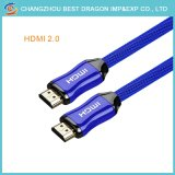 Hohe Definition-Multimedia-Schnittstelle HDMI  Cable  2.0 4K 3D Gold überzogen