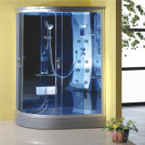 Sitio de ducha curvado del marco de la aleación de aluminio del vidrio Tempered