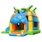 L'hippopotame Inflatable Bouncer Chambre Combo Bouncer gonflable Faites glisser pour les bambins CB3003