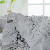 Matéria têxtil Home por atacado cobertor acolchoado cinzento lavado do Coverlet do algodão