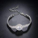 De imitatie Armband van de Vrouwen van het Kristal van Juwelen Bruids Witgoud Geplateerde