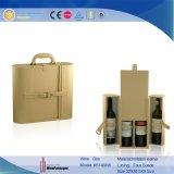 Ventas al por mayor de empaquetado de cuero de la caja de la caja de encargo clásica del vino
