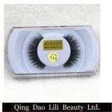 El ojo de seda de la tira del OEM 3D de la belleza de Lili azota el pelo humano de las pestañas falsas del visión del Faux