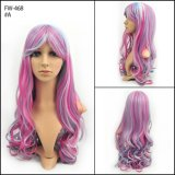 Synthétique Colorée Beatiful Color Fashion Long Style Curly Halloween Wig