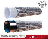 Teflon ondulado liso Hose/SAE100 flexível R14 da trança Hose/PTFE do aço inoxidável do furo