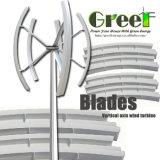 blad 1/2/3//5/10kw Firberglass voor de Verticale Turbine van de Wind van de As/Generator