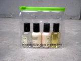 Sacs recyclés maquillage clair PVC étanche sac cosmétique avec fermeture éclair (jhf-plastique011)