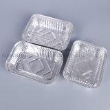400ml 뚜껑을%s 가진 처분할 수 있는 식품 포장 알루미늄 호일 콘테이너