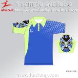 Healongの販売のための新しいロゴの服装の昇華人のポロシャツ