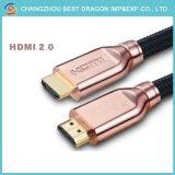 Cavo placcato oro 2.0 3D 4K 60Hz di HD 18gbps HDMI
