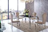 Самомоднейшая стеклянная мебель столовой нержавеющей стали (SJ808)