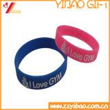 Custom красочные сплошной экран шелка браслет кремния в Китае (YB-LY-WR-15)