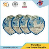 Hoja de cubierta de aluminio para la taza de yogurt