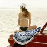 Мягкого хлопка квалифицированных печать раунда круг пляж полотенце