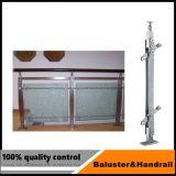 Pilar de cristal del pasamano del acero inoxidable para la escalera o la terraza